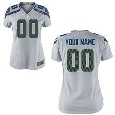 Seattle Seahawks Nike Women's Custom Game Jersey – - $149.99