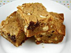 Dessert Recipe- Double Chocolate & Toffee Blondies. Recipe posted @ thetastyfork.com