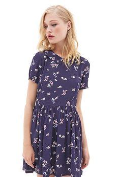Woven Floral Babydoll Dress