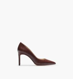CROCODILE-EMBOSSED COURT SHOE