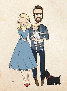 Family custom portrait
