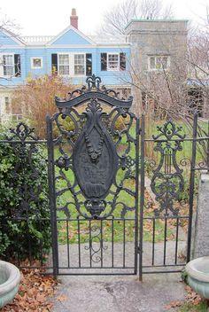 Iron gate, Granite Lodge, Rockport, MA by Joel Abroad, via Flickr
