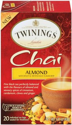 Twinings Chai Tea, Almond, 20 Count: Amazon.com: Grocery & Gourmet Food