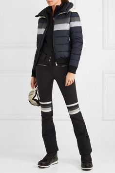 ec3fa86c8b Perfect Moment - Queenie striped quilted down ski jacket