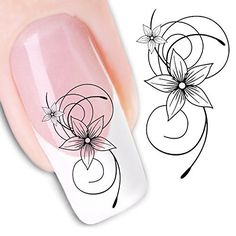 Nail Art Water Butterfly Water Nail Art Decal  Tattoo  Sticker -- Read more reviews of the product by visiting the link on the image. Note:It is Affiliate Link to Amazon.