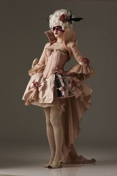 Marie Antoinette dress.  Can we bring this style back now?