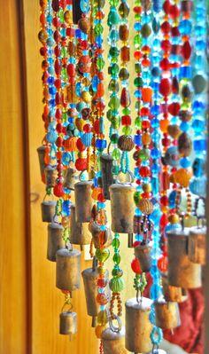 Beaded curtain,Glass Beaded Suncatcher,Window Curtain,Beaded Door Curtain,Hanging Door Beads,Bohemian Curtain,suncatcher curtain,window bead by RonitPeterArt on Etsy