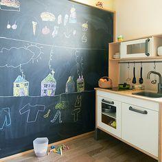 Dětská kuchyňka IKEA Duktig a tabule - detail © Katka Horáková, www.DesignVille.cz