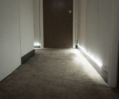 Automatic Hallway Runner Lights - zomg want! Hubby could TOTALLY do this.