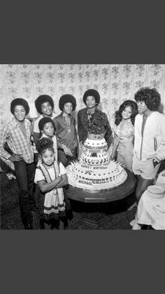 The Jackson family at a celebration.