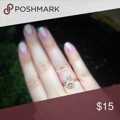 Rose gold tone CZ bunny fashion ring Cute bunny fashion ring. It is adjustable. Jewelry Rings