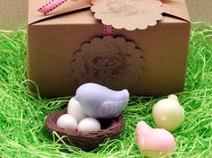Sweet Tweets Bird Nest and Eggs SOAP SET Spring Easter Baby Shower Party Favor  From SweetbodySoaps on Etsy.com on $12.95