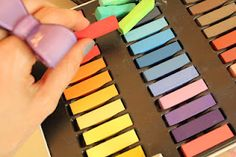 HOT TIP: Use soft pastel chalks for hair chalking over oil pastels :)