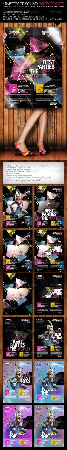 Ministry of Sound Party Poster
