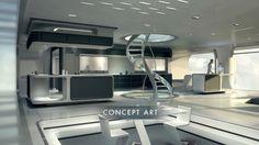 Spaceship Interior, Futuristic Interior, Futuristic Architecture, Interior Architecture, Futuristic Houses, Futuristisches Design, House Design, Interior Concept, Interior Design