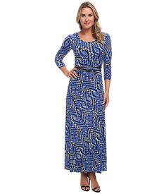 Calvin Klein Calvin Klein  Matte Jersey Printed Maxi Dress CelestialBirch Multi Womens Dress for 79.99 at Im in!