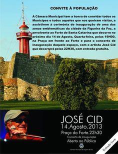 Concerto: José Cid | 14 de Agosto | 22h30 | Praça do Forte | Figueira da Foz