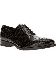 JOHN RICHMOND Alligator Effect Oxford Shoe #farfetch #galante