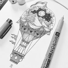 Rising Above. Stippling Drawings in Ink. Click the image, for more art by Dylan Brady. Dotted Drawings, Cool Art Drawings, Pencil Art Drawings, Art Drawings Sketches, Black Pen Sketches, Doodle Art Drawing, Illustration Art Drawing, Ink Illustrations, Drawing With Pen