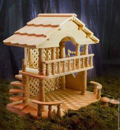 Купить Домик кукольный деревянный - домик, дом, домик для кукол, Дом для кукол, дом для куклы