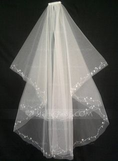 Wedding Veils - $16.99 - Two-tier Fingertip Bridal Veils With Cut Edge (006035434) http://jjshouse.com/Two-Tier-Fingertip-Bridal-Veils-With-Cut-Edge-006035434-g35434
