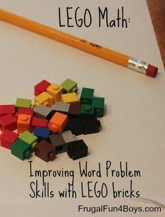 Improving Word Problems Skills with Lego Bricks. {Frugal Fun 4 Boys}