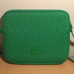 Michael Kors iPad or tablets case with shoulder strap in lime green used once. Michael Kors Accessories Laptop Cases