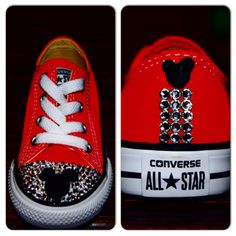 Mickey Mouse Swarovski Crystal Red Converse. by BlingbyCubanita on Etsy  https   www 5ca76d231