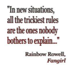 Love Rainbow Rowell's Fangirl!
