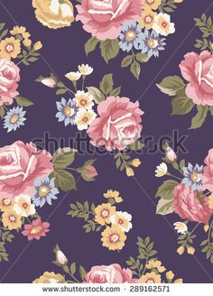 Beautiful vintage seamless floral pattern. Flower vector background.