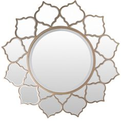 Ansley MDF Framed Medium Size Round Wall Mirror