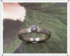 Kleinere diamant mag ook hoot baargoud - oogst sierraden - ritme * diamant ring