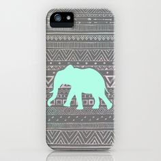 Mint Elephant  iPhone & iPod Case by Sunkissed Laughter - $35.00