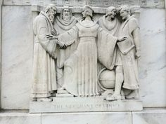 The Merchant of Venice - frieze on The Folger Shakespeare Library