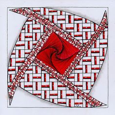 Zentangle 168 - String 37 1 by ronniesz, via Flickr