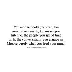 The person you will be in five years depends on the information you feed your mind today. When you are conscious about the kind of information you allow into your world, it's only a matter of time before your reality reflects your improved quality of thought.  #FeedYourMindGoodStuff #ThinkGrowProsper