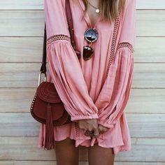 Blush dress.
