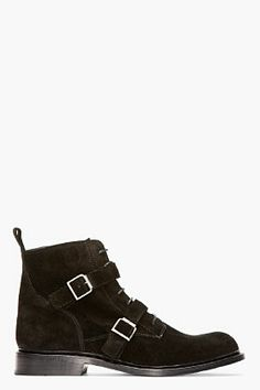 BALMAIN BLACK SUEDE BELTED BOOTS - http://africanluxurymag.com/shop-item/balmain-black-suede-belted-boots/