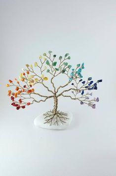 Rainbow Tree, Chakra Tree Sculpture, Gem Tree, Tree of Life, Feng Shui, Healing Gems, Reiki