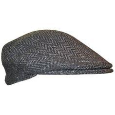 A beautiful dark gray Irish Flat cap. The herringbone pattern a90991600e83