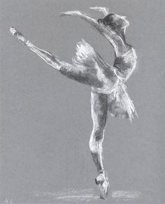 Ballerina pastel Illustration. Sketch of ballet by madareli