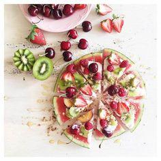 watermelon pizza, summer recipe