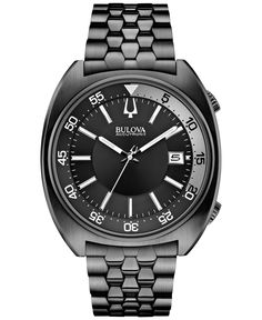 Bulova Accutron Ii Men's Snorkel Black-Tone Stainless Steel Bracelet Watch 43mm 98B219