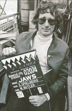 "It always cracks me up how YOUNG he was then! ""The one and only Steven Spielberg, director of Jaws!"""