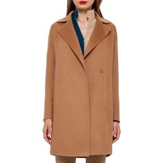 Akris Jaspar Cashmere Coat (126 995 UAH) ❤ liked on Polyvore featuring outerwear, coats, camel, long sleeve coat, akris, camel coat, cashmere coat and camel cashmere coat