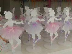 Hermosos centros de mesa decorativos de bailarinas de balet