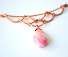 Wire necklace with polymer pendant by twocatsboutique on Etsy, $25.00