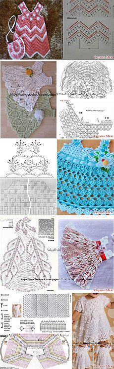 "Child Knitting Patterns Choice of schemes quantity 2 - kids's attire: Diary of the group ""Crochet for Newbies"" - Nation Mother Baby Knitting Patterns Gilet Crochet, Crochet Motifs, Crochet Diagram, Crochet Chart, Crochet Stitches, Crochet Patterns, Dress Patterns, Mode Crochet, Baby Girl Crochet"