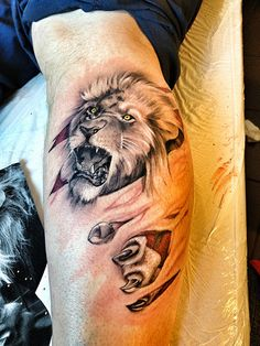 john lewis,lion,tattoo,colour,flesh,tear | Flickr - Photo Sharing!