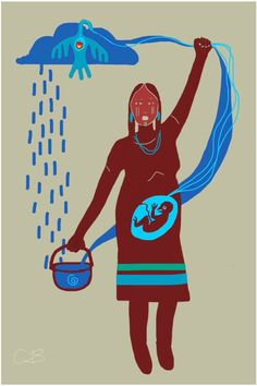 Circle of life requires fresh water - No DAPL Native Art, Native American Art, American Indians, Indigenous Art, Circle Of Life, First Nations, In Kindergarten, Artist Art, Nativity